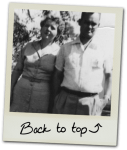 Polaroid photo of grandparents