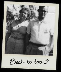 Polaroid photo of grandparents